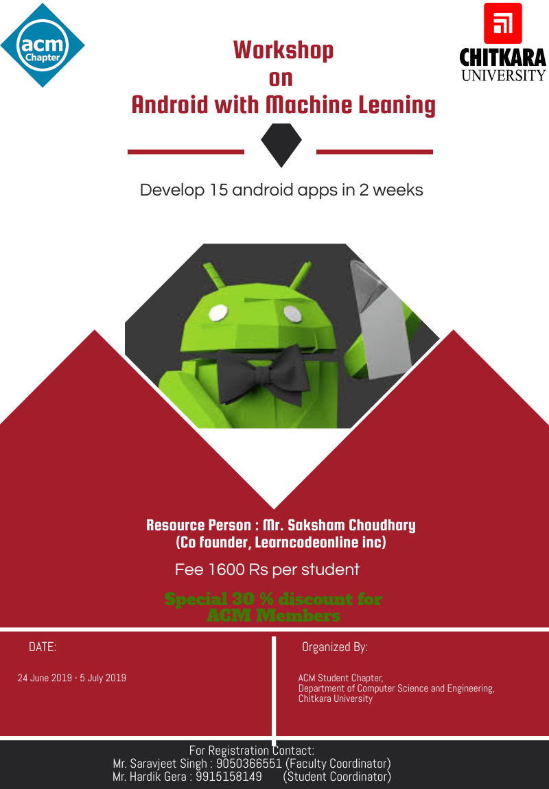 Poster for Android Workshop