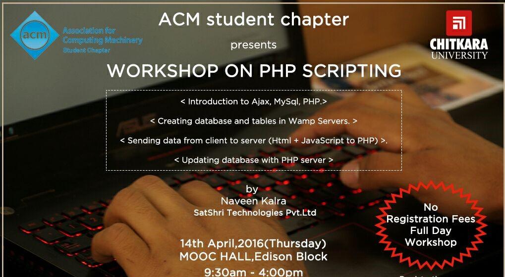 PHP SCRIPTING WORKSHOP